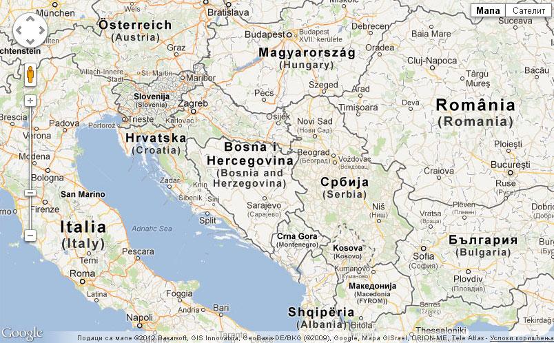 mapa jugoslavije Mape ulica | Bivša Jugoslavija | Mapeulica.com mapa jugoslavije